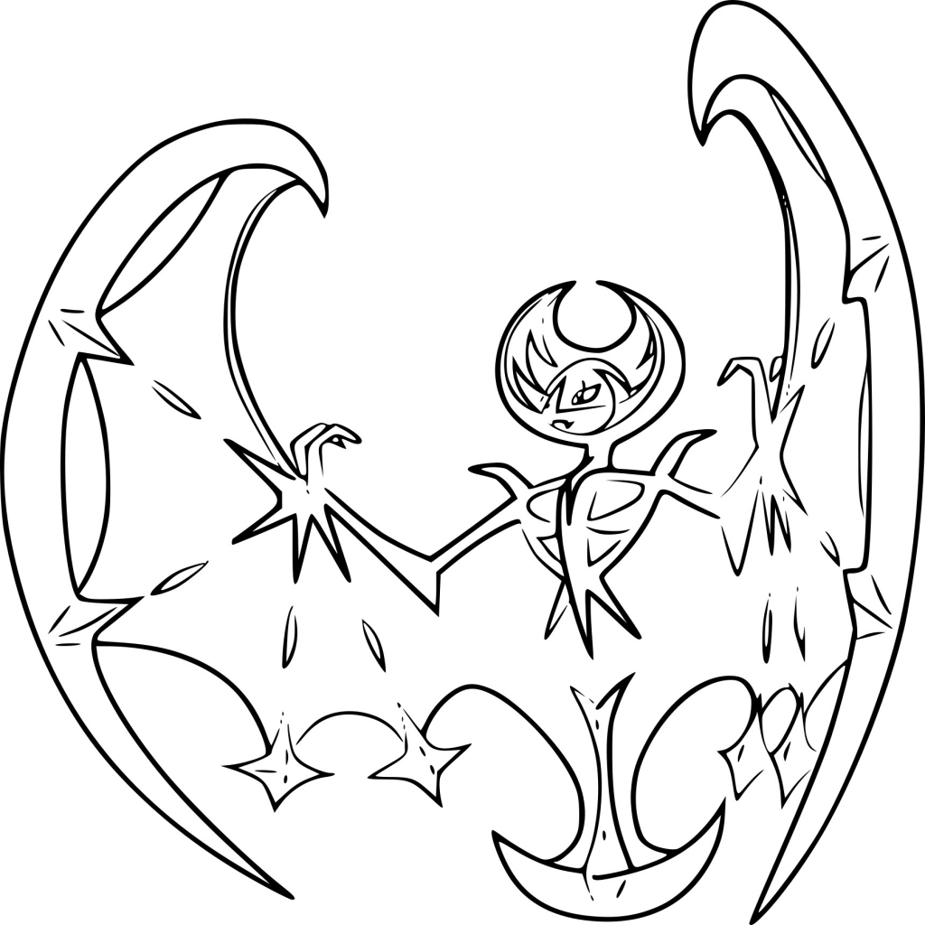 Click to see printable version of Lunala Coloring page