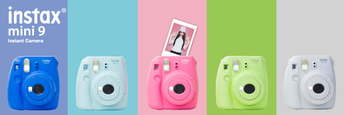 Цвета Fujifilm Instax Mini 9
