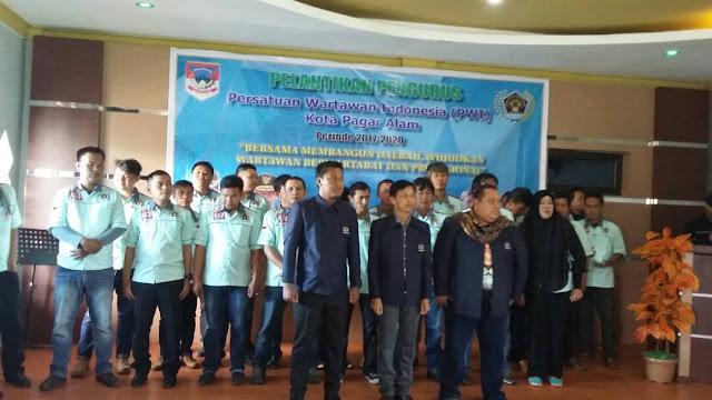 Asnadi M Ariadi Pimpin PWI Kota Pagar Alam