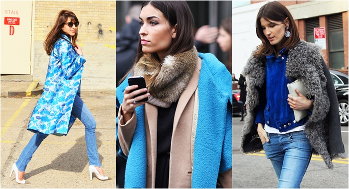 New York Street style blue jackets coats