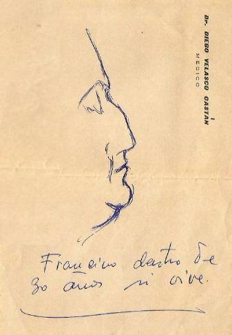 Caricatura de Francino, autor Dr. Velasco