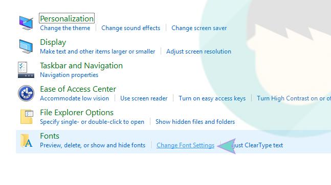 Change Font Settings