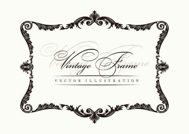 European Classic Retro Pattern Border  Vector Free Vector