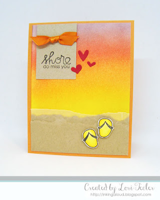 Shore Do Love You card-designed by Lori Tecler/Inking Aloud-stamps from Paper Smooches