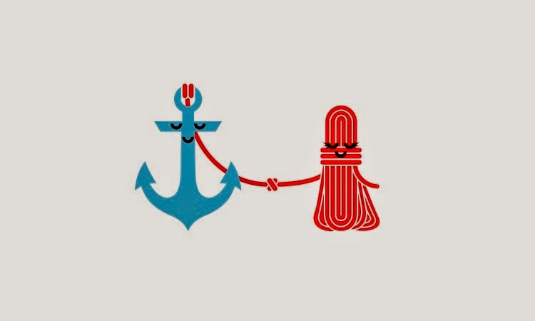 when a tangled mess of rope falls in love with a stable anchor.