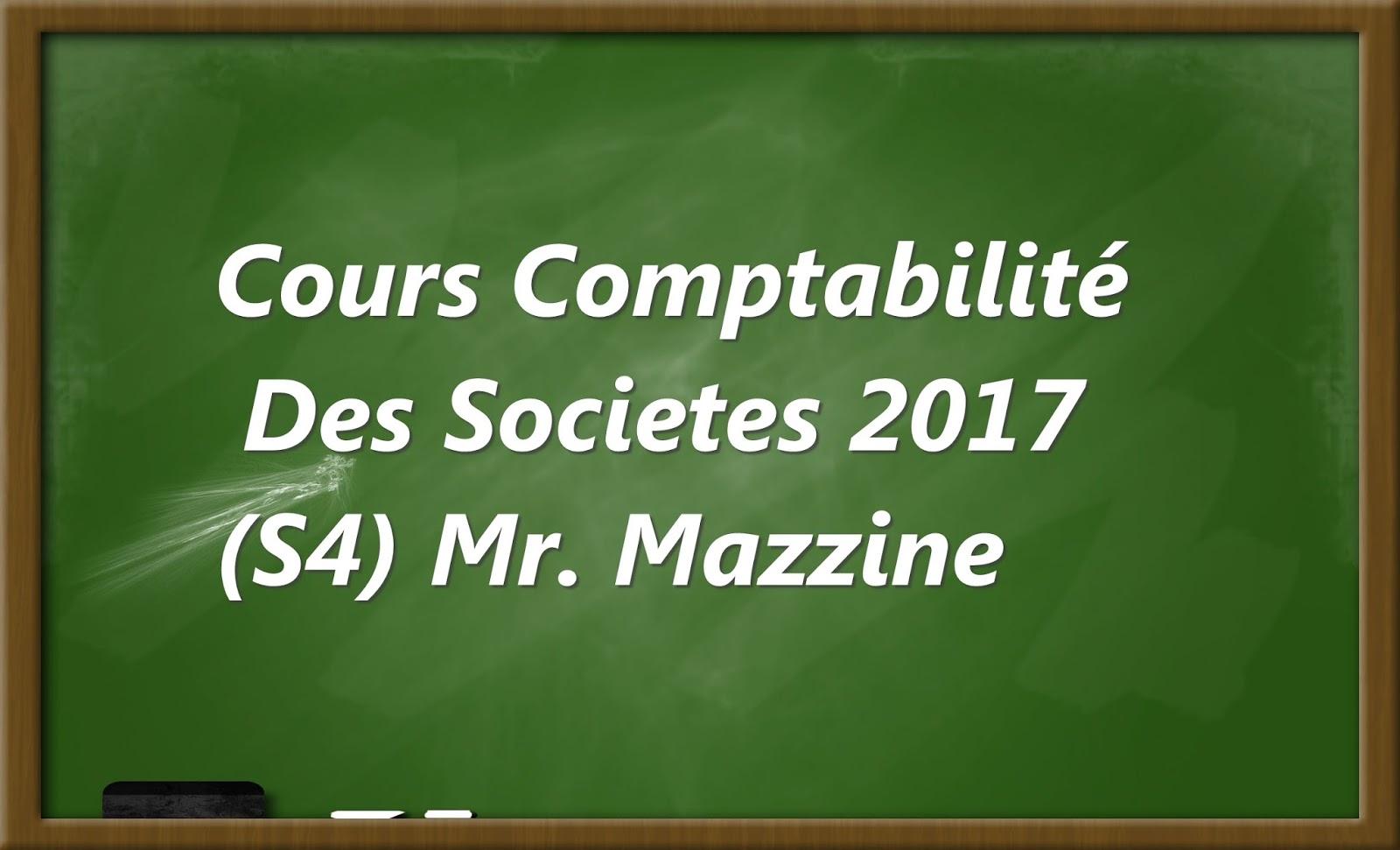 Cours Comptabilite Des Societes 2017 S4 Fsjes Ofppt Cours