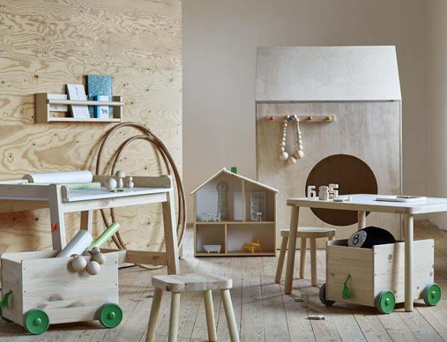 ikea flisat, drewno, wooden, drewniane meble, wnętrza