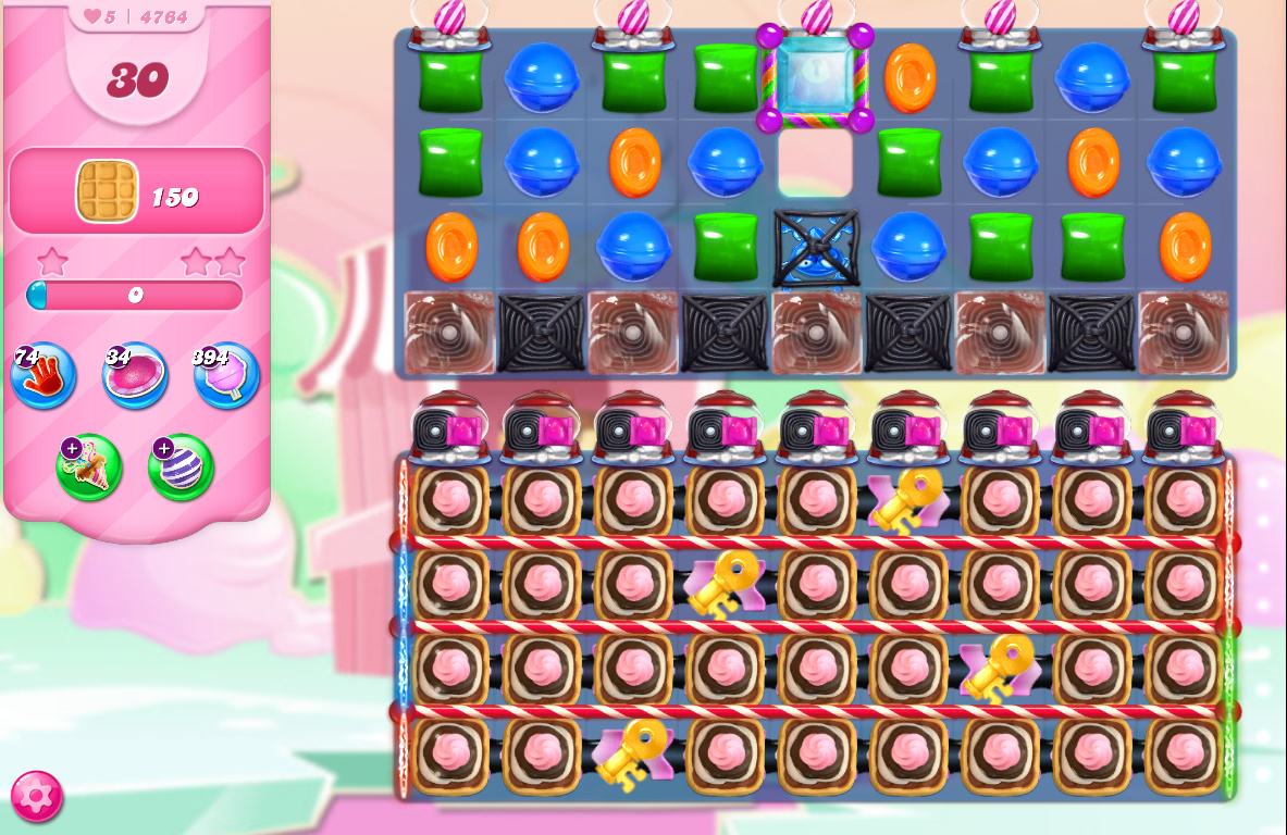 Candy Crush Saga level 4764