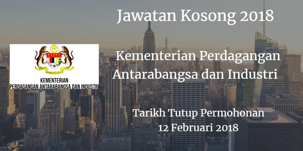 Jawatan Kosong MITI 12 Februari 2018
