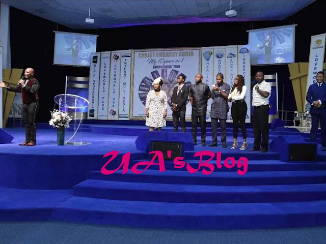 Photos Of Charly Boy And His Wife Thanking God For Salvation At Christ Embassy Church Go Viral