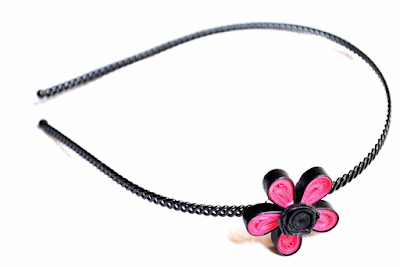 Single flower hair band designs for kids - quillingpaperdesigns