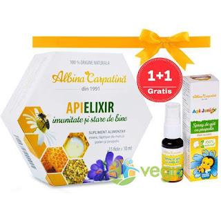 Cumpara de aici Apielixir  + Spray Api Junior pt copii produs gratis pt imunitate si stare de bine