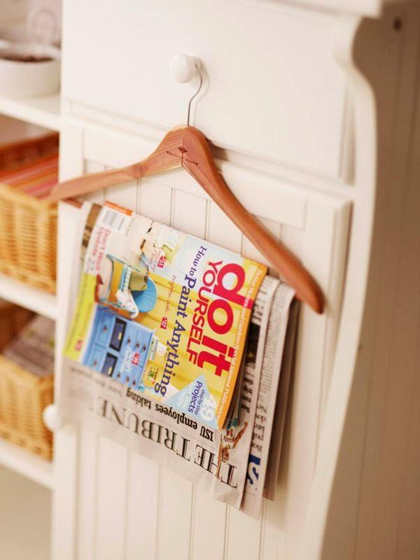 vintage hanger magazine rack