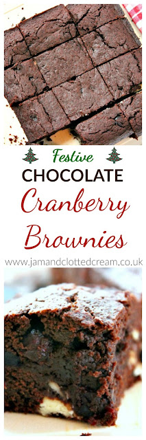 Double Chocolate Cranberry Brownies