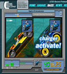 "Side-by-side screenshot of the game with caption ""Charger activate!"""