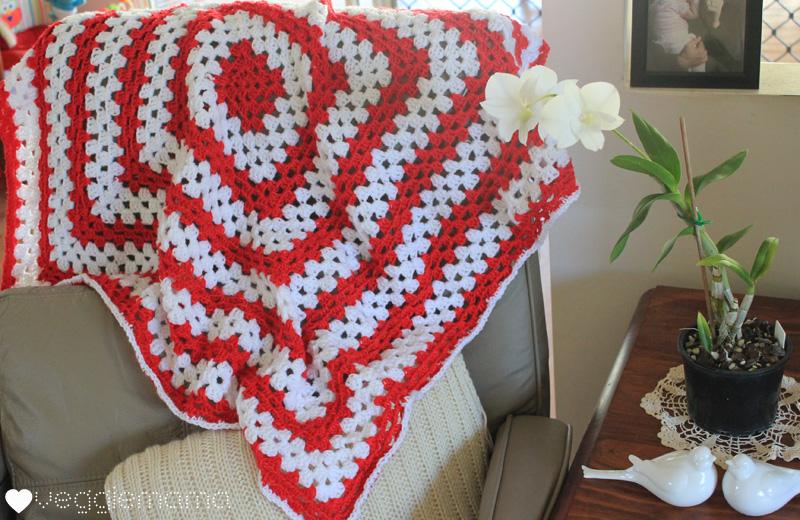 Giant granny square lap rug - easy peasy! | Veggie Mama