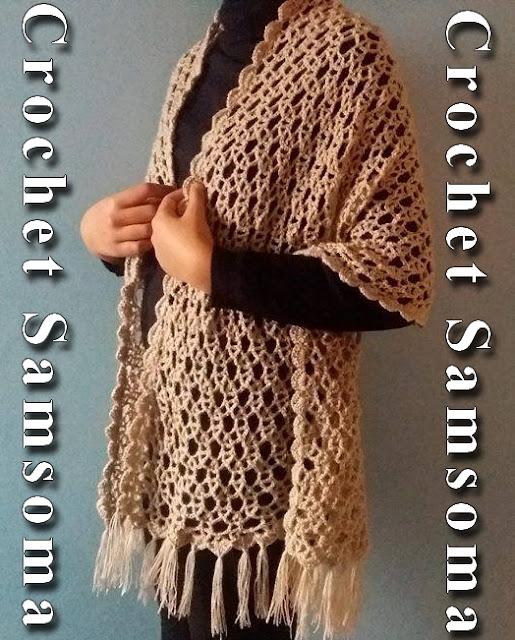 كروشيه شال . كروشيه شال مستطيل . كروشيه شال مستطيل مع شرح لقراءة الباترون .read crochet pattern  . كروشيه سكارف  . Tutorial Easy Crochet Shawl . crochet shawl. crochet shawl طريقة قراءة باترون الكروشيه
