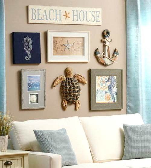 Beach Cottage Gallery Wall