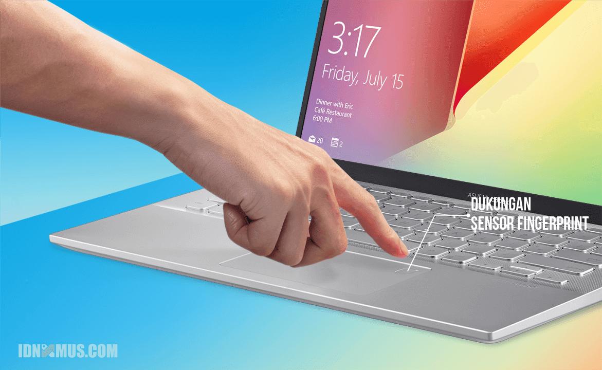 Asus VivoBook Ultra A412DA Lebih Aman Dengan Fingerprint