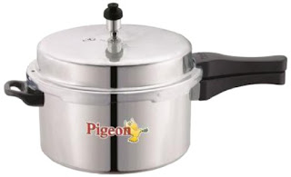 Pigeon Deluxe Aluminium Pressure Cooker 3 Litres For Rs 599 (Mrp 1025) Amazon