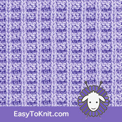 Knit Purl 31: Ridge Rib | Easy to knit #knittingstitches #knitpurl