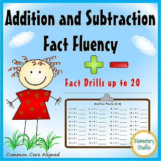 Fact Fluency within 20 for Grade 2