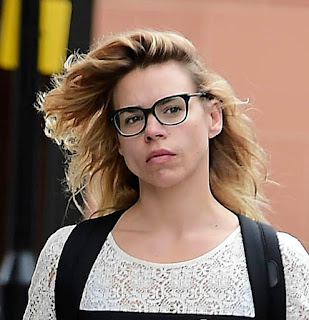 Billie Piper Out And About In London