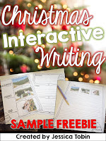 FREE Christmas Interactive Writing-  December Activities and primary resources plus three FREEBIES- fun ELA, math, and social studies activities for students during the month of December