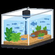 魚の入った水槽のイラスト