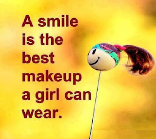 smiling status for girls