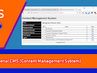 Tutorial PHP - Membuat CMS Sederhana - Part 1 - Pengantar CMS