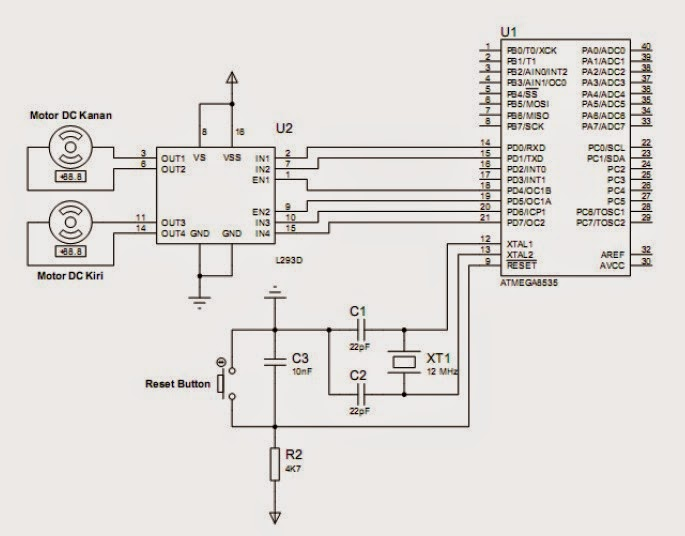 Interface Driver DC Motor using L293D with ATMEGA8535