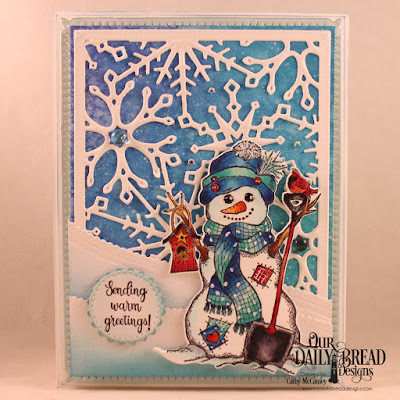 ODBD Products:  Stamp/Die Duos: White as Snow  Custom Dies: Snowflake Sky, Leafy Edged Borders, Pierced Circles, Fancy Circles