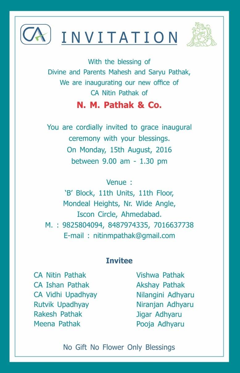 CA NITIN PATHAK CA Nitin Pathak Inauguration of New Office on