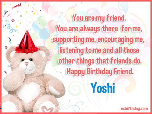 Yoshi Happy birthday friends always