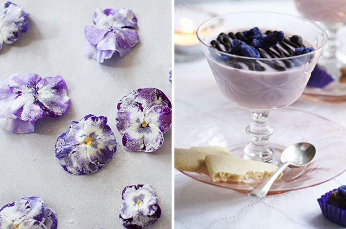 Candied Violets and Violet Creams