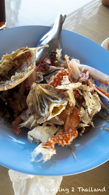 Eating seafood in Thailand