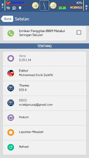 BBM Mod IOS 6 V3.0.0.18 Terbaru