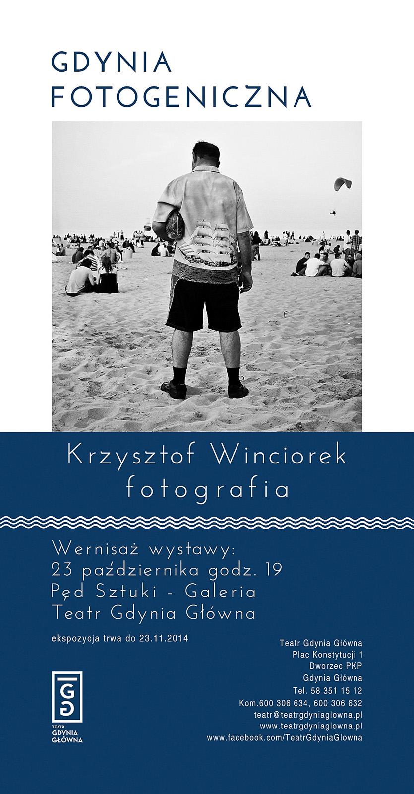 Ulotka informacyjna do wystawy Krzysztofa Winciorka