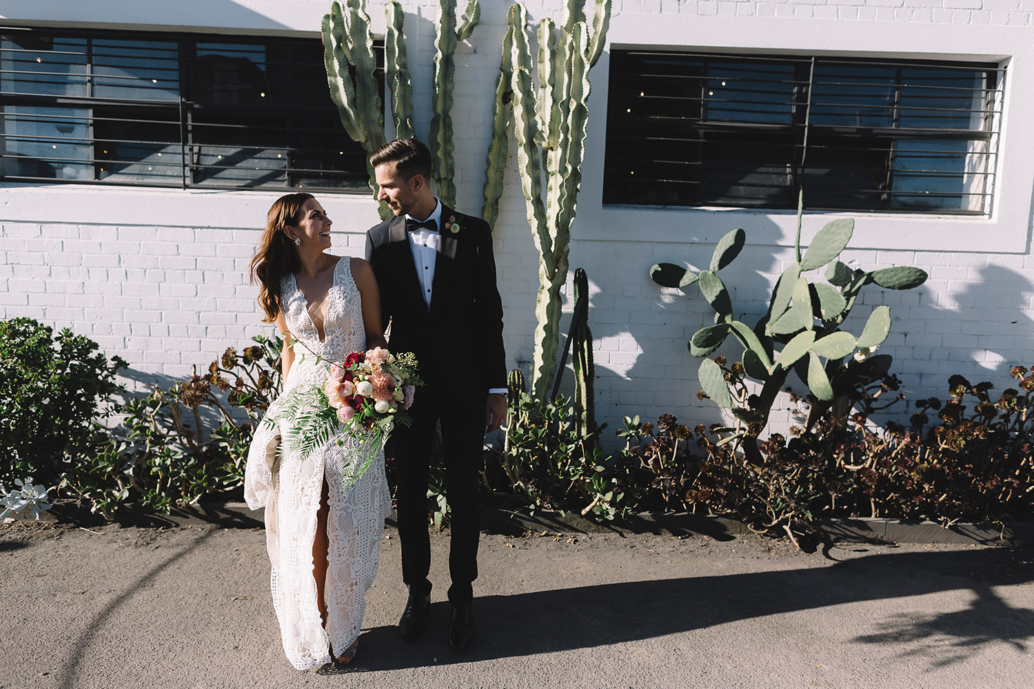 Warehouse wedding venue melbourne cactus garden
