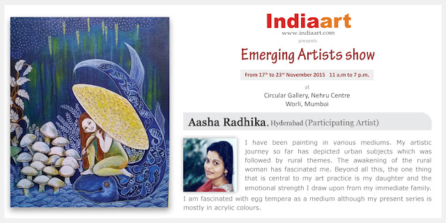 Artist Statement by Aasha Radhika from Hyderabad who is part of the Emerging Artists show presented by Indiaart.com