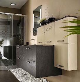 Inspiration salle de bain: Marron, beige et nature