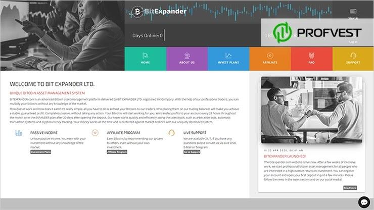 Bit Expander LTD обзор и отзывы HYIP-проекта