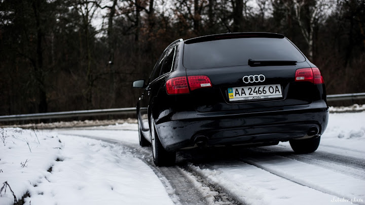 black audi a6 avant shot on sony a7 with 50mm f1.4 lens