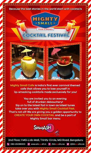 E-Invite Cocktail Festival at Smaaash, 1 MG Lido Mall