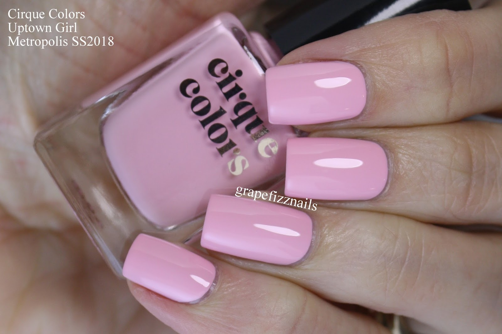 Grape Fizz Nails April 2018 Frnd Cosmetics Uptown Girl Set Bam Is A Vibrant Coral Pink That Screams Summer This One Of My Faves From The Collection For Sure I Used 3 Coats Swatches To Really Get Full
