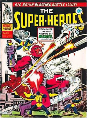 Marvel UK, The Super-Heroes #28, the Silver Surfer and the X-Men