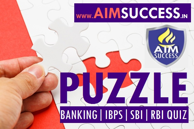 Puzzle for SBI PO/Clerk Mains 2018: 13 July 2018