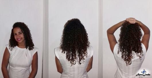 Cabelo cacheado com detox g hair