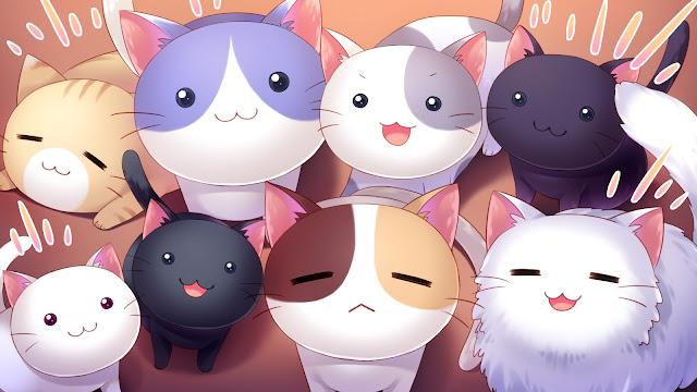 Wallpaper Kucing Kartun Lucu HD
